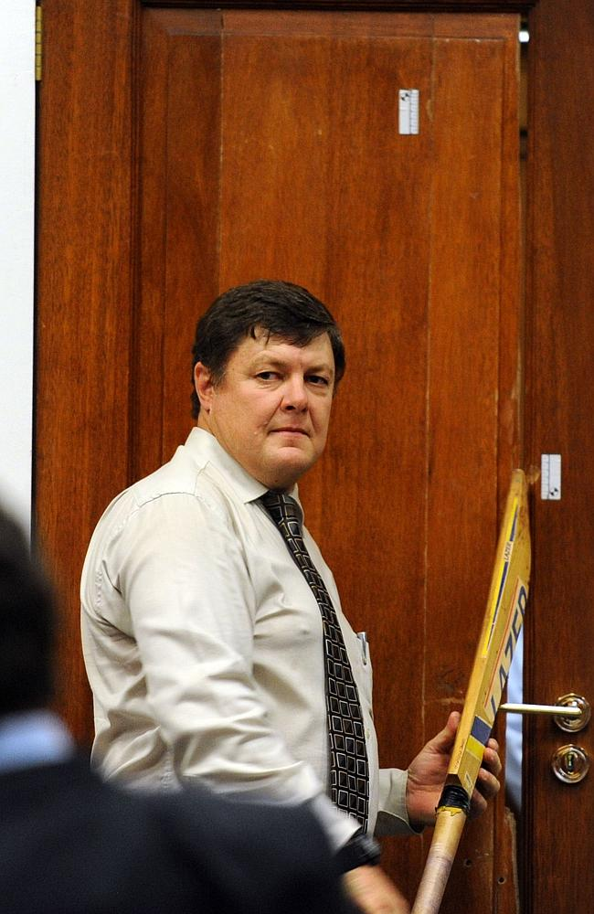 Resounding blow ... police forensic expert Colonel Johannes Vermeulen during the trial's cross-examination at the North Gauteng High Court in Pretoria. Picture: Werner Beukes