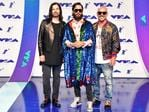 Tomo Milicevic, Jared Leto and Shannon Leto of Thirty Seconds to Mars attend the 2017 MTV Video Music Awards at The Forum on August 27, 2017 in Inglewood, California. Picture: AFP