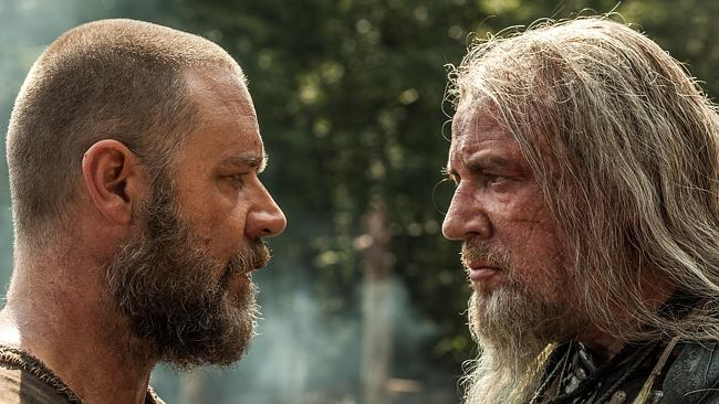 Forces of nature ... Russell Crowe is Noah and Ray Winstone is Tubal-Cain in Noah.