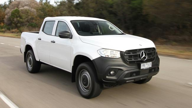 The X Class X250d Pure drives better than a Navara but it's not a standout among its peers. Picture: Joshua Dowling.
