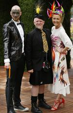 Myer Fashion in the Field: Ben Dniprowskij, Ian Bennett and Amanda Macor. Picture: David Caird