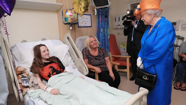The Queen visited survivors at the Royal Manchester Children's Hospital. Picture: Peter Byre
