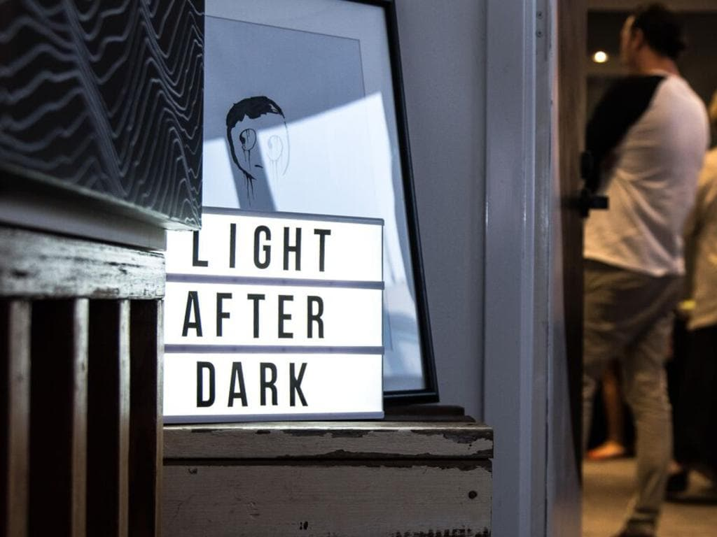 The office on Harrogate hosts the Light after Dark Solo Art Show by Emily Ashton. Picture: Jed Steele