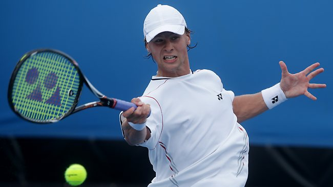 Lithuania's Ricardas Berankis faces Andy Murray in the third round after beating Germany's Florian Mayer during their second round match.