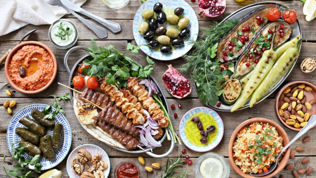 Fresh veg, white fish, extra-virgin olive oil and nuts all feature heavily in the Med diet.