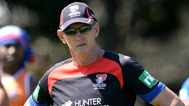 Wayne Bennett watches on at Knights training.