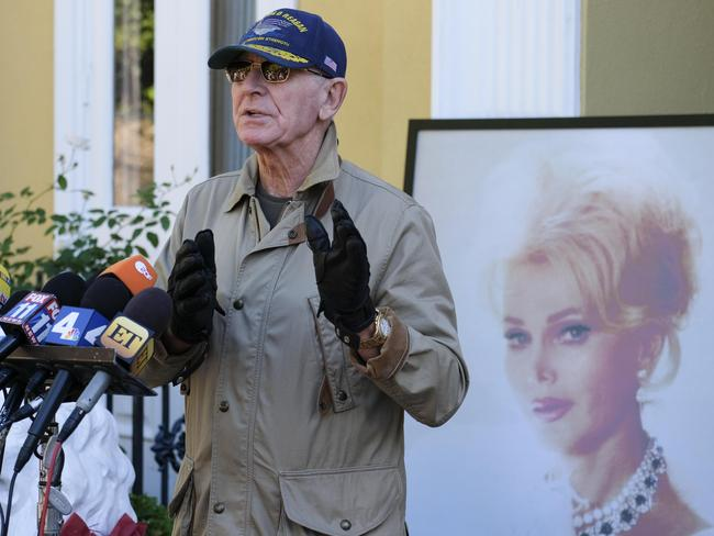 Frederic van Anhalt speaks a day after the death of his wife, Zsa Zsa Gabor. Picture: AFP