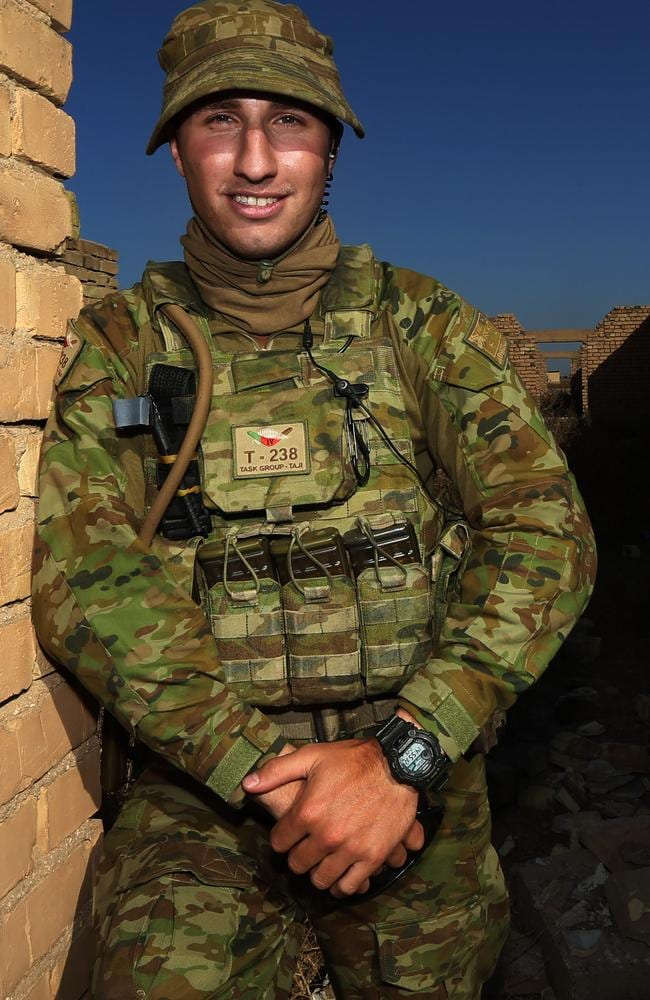 Iraqi speaking Australian Army soldier Karam Elias is part of the Task Group Taji based outside Baghdad in Iraq that are training paramilitary skills to Iraqi police to help them wipe out ISIS. Picture Gary Ramage
