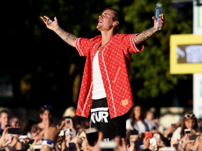 Bieber grew increasingly frustrated with his head cold. Photo: Dave J Hogan/Dave J Hogan/Getty Images