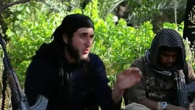 Zakaryah Raad as he appeared in an ISIL propaganda film called There Is No Life Without Jihad.