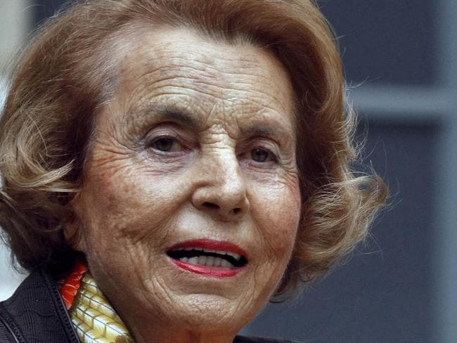 French billionaire ... L'Oreal heiress Liliane Bettencourt. Picture: AFP/Francois Guillot