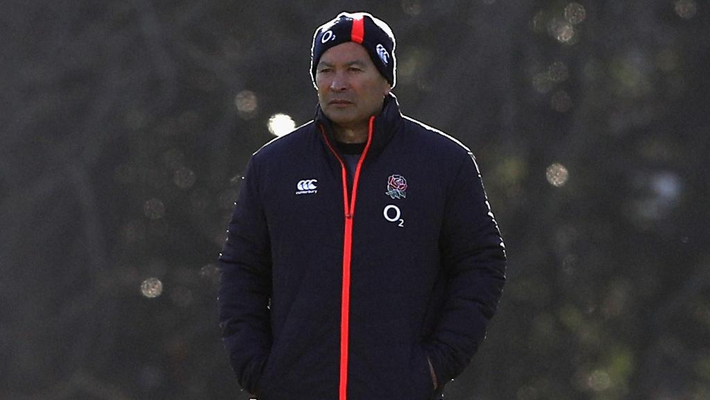 Eddie Jones looks on during an England training session in the lead-up to this weekend's Test against the Wallabies. Picture: Getty Images