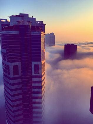 Foreign workers built skyscrapers above the clouds. Picture: Shitika Anand