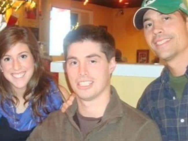 Loving siblings ... Katie, Michael and James Foley. Picture: Yahoo! News
