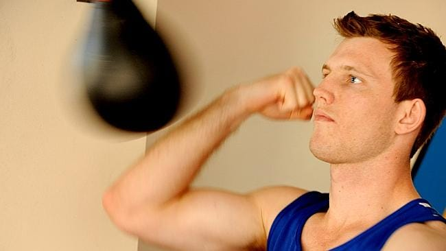 Jeff Horn at the Stretton Boxing Club.