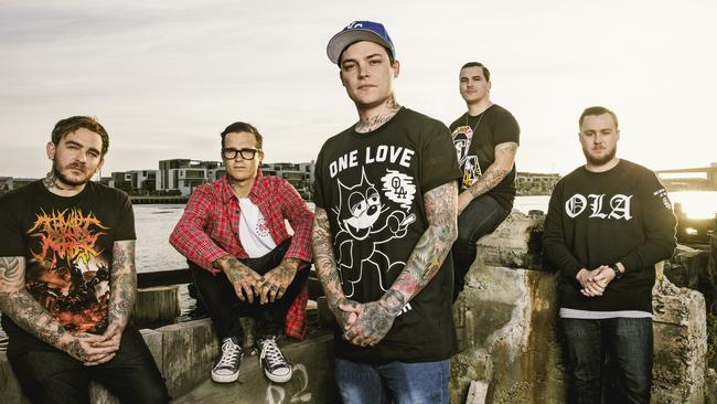 Australian hardcore band Amity Affliction.