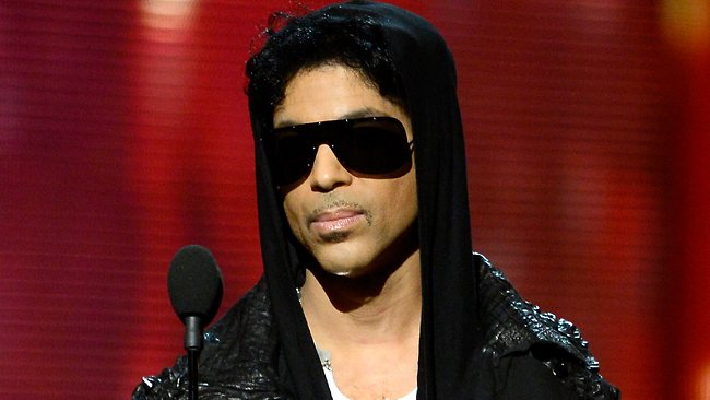 Prince presenting the award for Record of the Year.