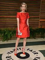 Actress Emma Roberts attends the 2014 Vanity Fair Oscar Party. Picture: Getty