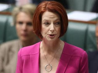 PM Julia Gillard tabled the NDIS report to the House of Representatives in Parliament House on the last sitting day for 2012.