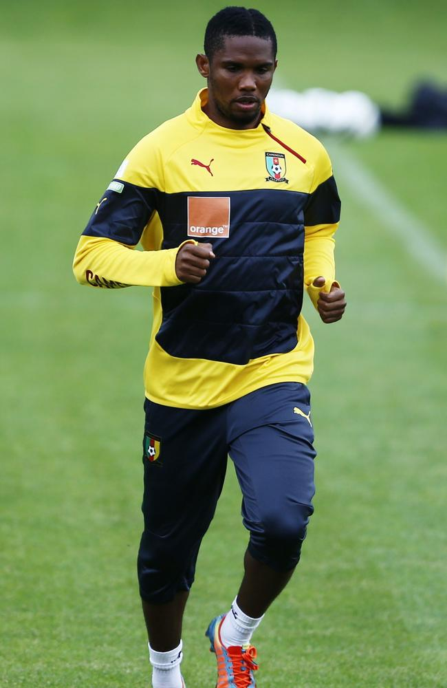 Samuel Eto'o is leading the line for Cameroon next month.