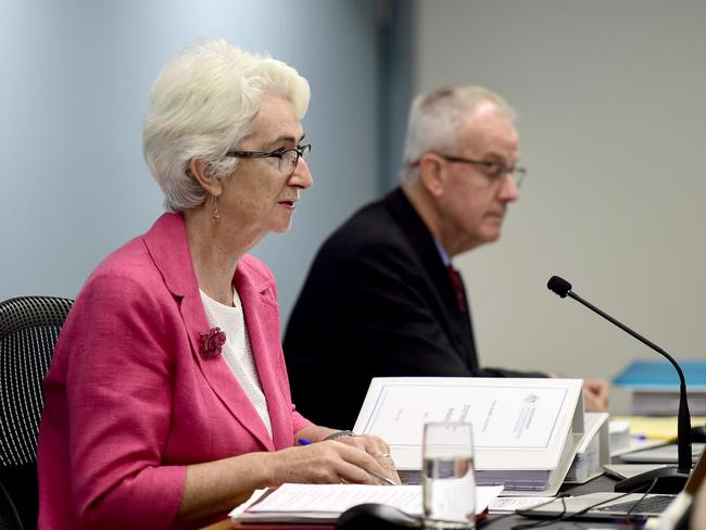 Justice Coate and Commissioner Atkinson at the Royal Commission Into Institutional Responses to Child Sexual Abuse. Picture: Jeremy Piper/ Oculi