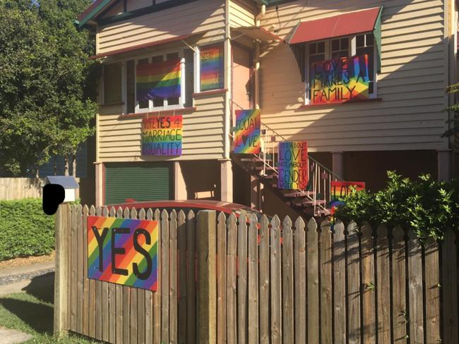 same sex supporters house gets vanbdalised
