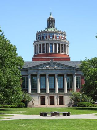 The prestigious University of Rochester, in upstate New York.