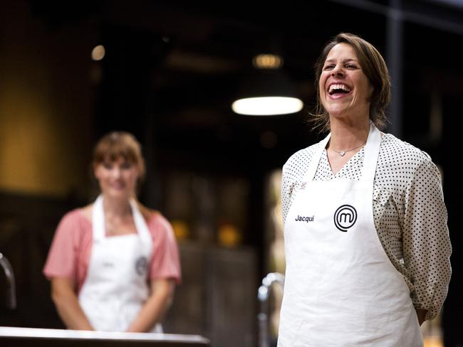 Favourite ... Billie McKay and Jacqui Ackland share a lighter moment in the MasterChef kitchen.