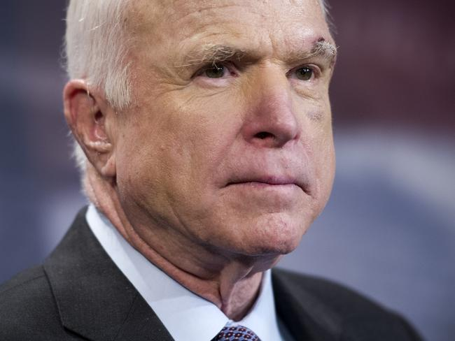 Senator John McCain has challenged Donald Trump over his Charlottesville comments. Picture: AP Photo/Cliff Owen