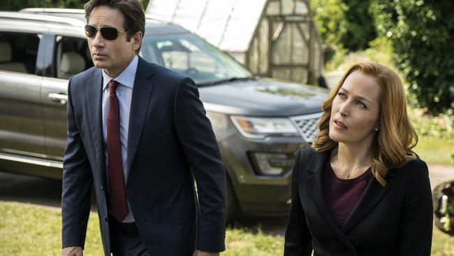 The truth is still out there ... David Duchovny and Gillian Anderson reprise their roles for the rebooted X-Files.