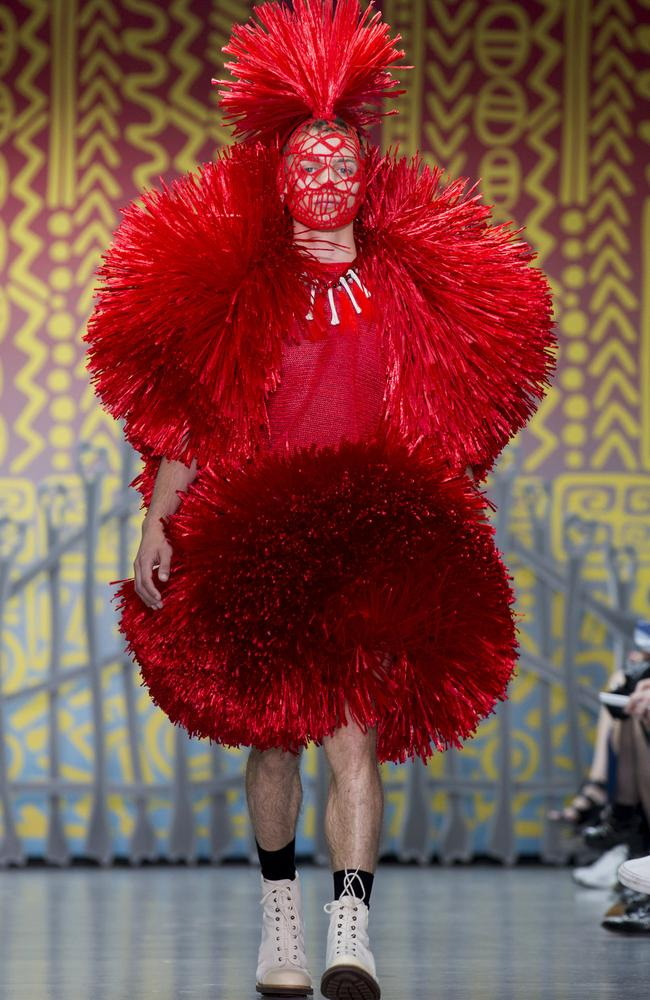 A model walks the runway at the Sibling show. Picture: Tristan Fewings/Getty Images