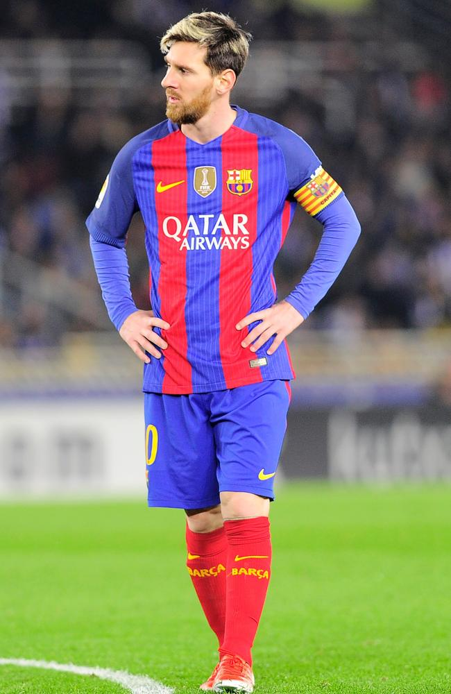 Barcelona's Argentinian forward Lionel Messi after the loss to Real Sociedad.