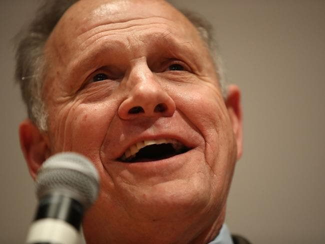 Republican candidate Roy Moore was controversial even before allegations of sexual harassment due to his staunch views against homosexuality and abortion. Picture: AFP/Getty/Joe Raedle