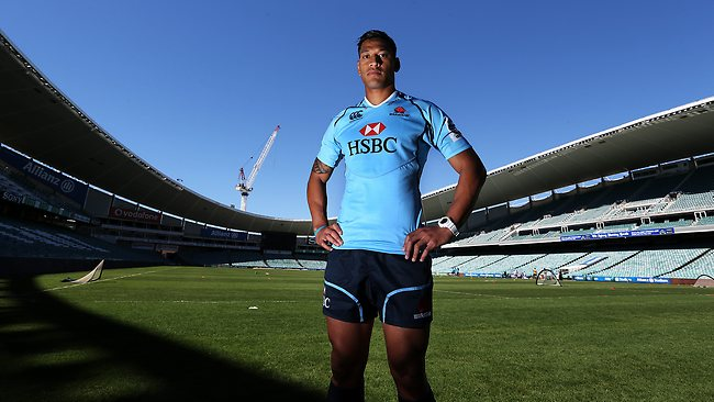 Israel Folau shows off his NSW Waratahs colours. Picture: Phil Hillyard