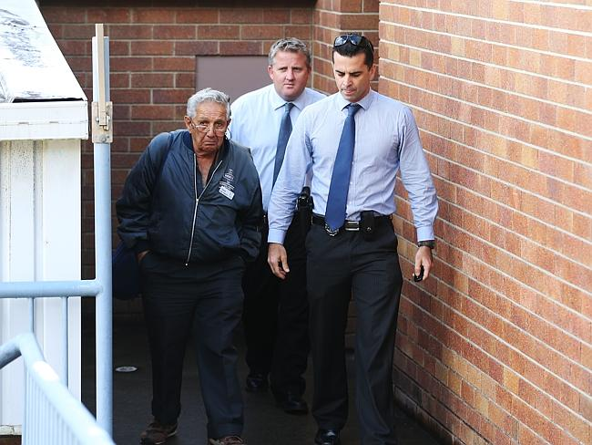 The elderly man who was abused by two young women leaves Coolangatta Police Station. Pict