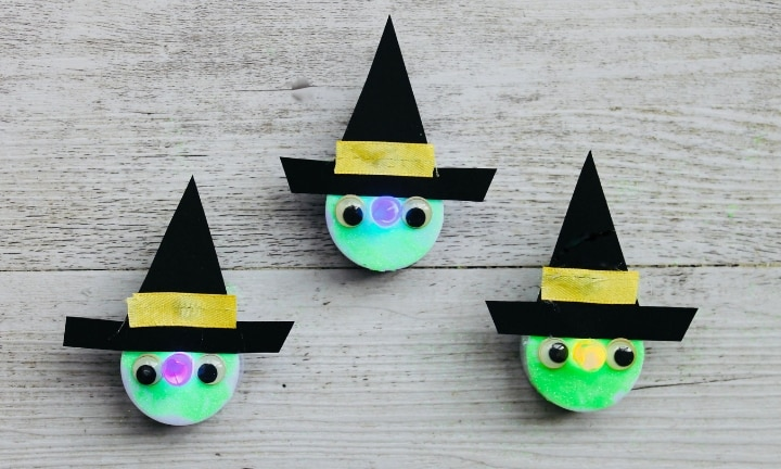 How to make tealight witches for Halloween