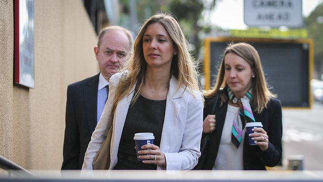 The family of Roberto Curti, who died in Sydney after being tasered by police, at Glebe Coroner's Court. Sisters Fernanda Laudisio and Ana Laudisio, and Domingos Laudisio, Roberto's Uncle. Picture: Attila Szilvasi