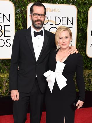 Patricia Arquette and Eric White. Picture: AFP