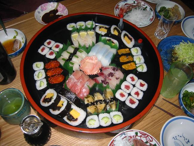 Sushi is a favourite, that's for sure. Picture: David Pusehouse