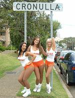 <p>Hooters Girls Sereena Rachael and Emma</p>