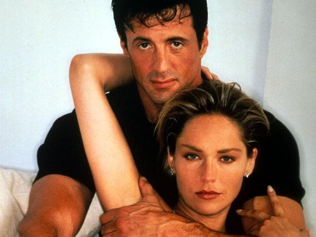 Sharon Stone with Sylvester Stallone in The Specialist.