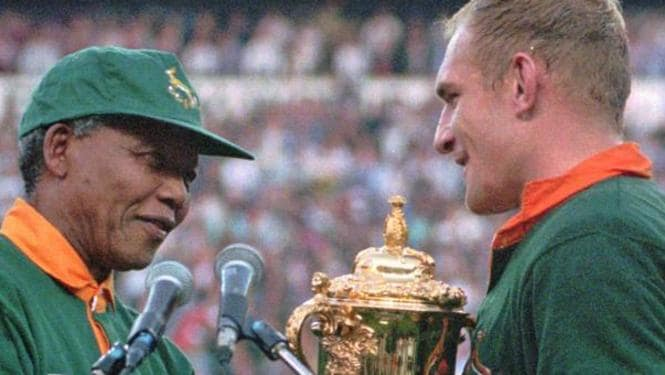 1995 rugby world cup and nelson 1995 rugby world cup: unifying a divided nation  and it was rugby world cup  1995 that helped pave the way for nelson mandela to bring.