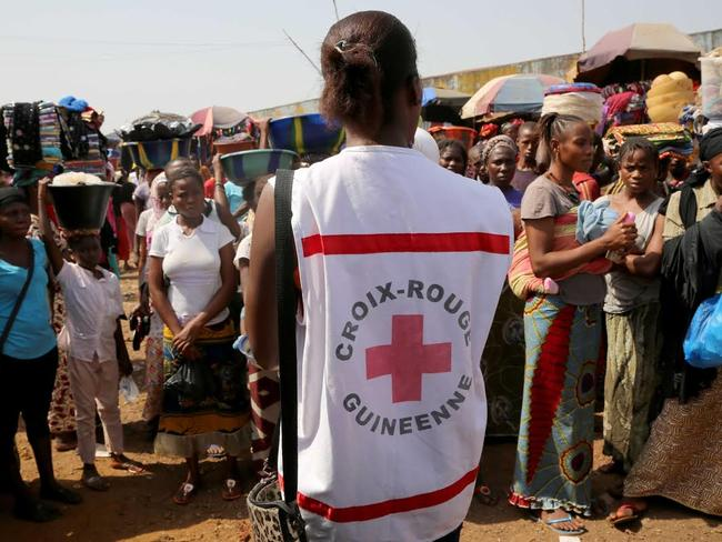 Ebola survivor Saa Sabas is now part of a Red Cross team of volunteers working to raise awareness of the disease. Picture: CATERS NEWS / PICTURE MEDIA