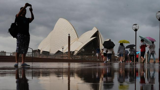 Severe thunderstorms swept across Sydney on Friday. Photo: Bob Barker.
