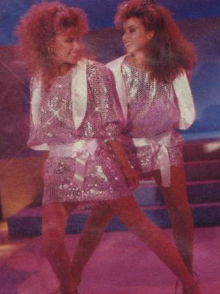 Kylie and Dannii in 1986. Picture: Supplied