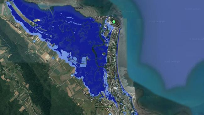 Port Douglas would almost be an island. Picture: Costal Risk Australia