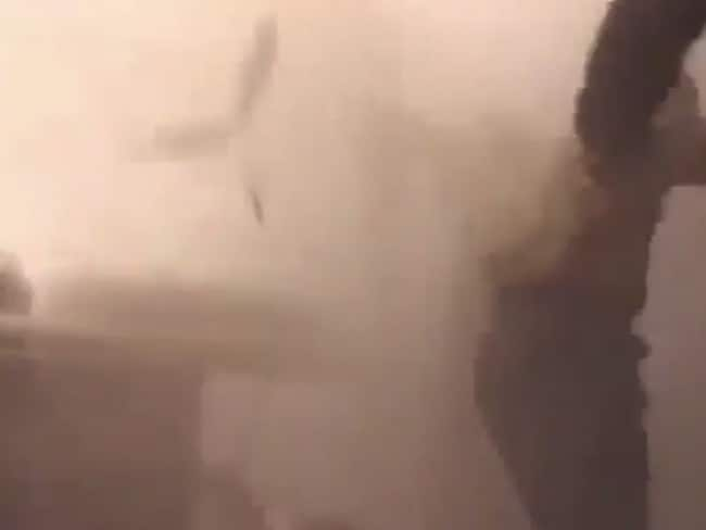 Deadly impact ... the explosive outcome of the child's song in a new anti-Assad advert campaign.