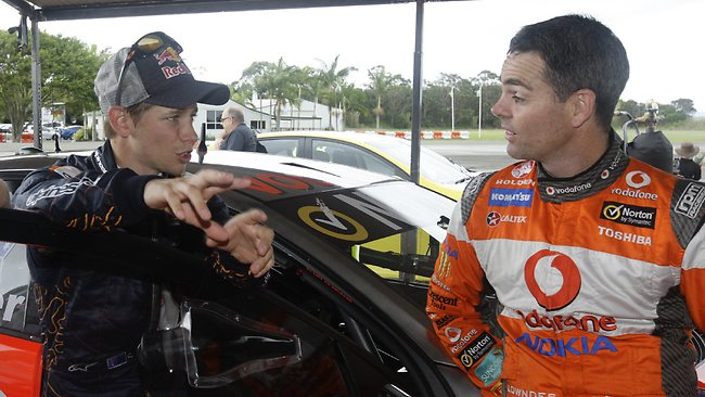 Casey Stoner and Craig Lowndes