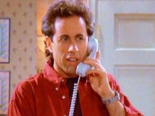 Jerry Seinfeld on phone. Picture: Supplied