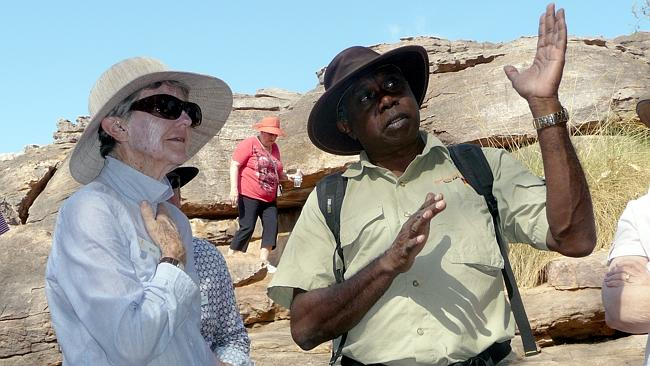 A guest and tour guide,Victor in Kakadu. Picture: Roderick Eime